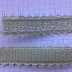 Резинка плоская для шлеек бюстгалтера,резинка двухсторонняя ,швейная фурнитура для белья .цвет - салат, фото 2