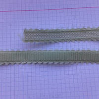 Резинка плоская для шлеек бюстгалтера,резинка двухсторонняя ,швейная фурнитура для белья .цвет - салат