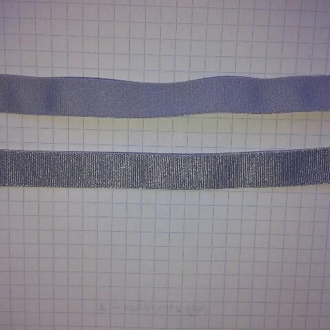 Резинка голубая для шлеек бюстгалтера,резинка двухсторонняя ,швейная фурнитура для белья .цвет -голубой