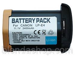 Аккумулятор для фотоаппаратов CANON EOS-1D Mark IV, EOS-1D Mark III,  EOS-1D C - LP-E4 аналог 2400 ма