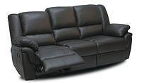 """Кожаный диван """"ALABAMA"""" с реклайнером (199см), черный"""