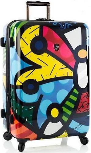 Большой пластиковый 4-колесный чемодан 101 л. Heys Britto Butterfly (L) 923092, разноцветный