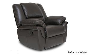 Кожаное кресло реклайнер ALABAMA, черный (98 см), фото 2