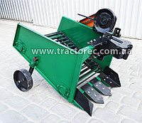 Картофелекопалка транспортерная для мототрактора, мотоблока на левую сторону шкива сцепления, фото 1
