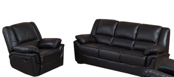 Кожанный комплект мебели Alabama с реклайнером, мягкая мебель, мебель в коже, кожаная мебель
