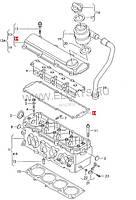 Прокладка крышки клапанной на Volkswagen Jetta.Код:06B 103 483 G