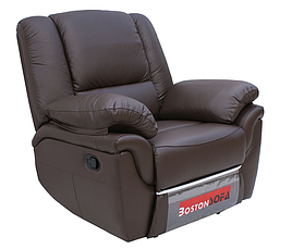 Шкіряне крісло-реклайнер ALABAMA, 0309 (98 см), фото 2