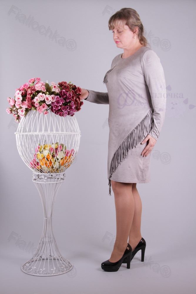 Платье миди(95см)2300-131 батал от производителя оптом