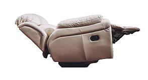 Кожаное кресло реклайнер Boston, раскладное кресло, кресло раскладушка, кресло с реклайнером, мягкое кресло, фото 2