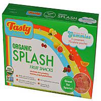 Фруктовые снеки с разными вкусами, Splash Fruit Snack, Tasty Brand, 5 пакетов по 23 г