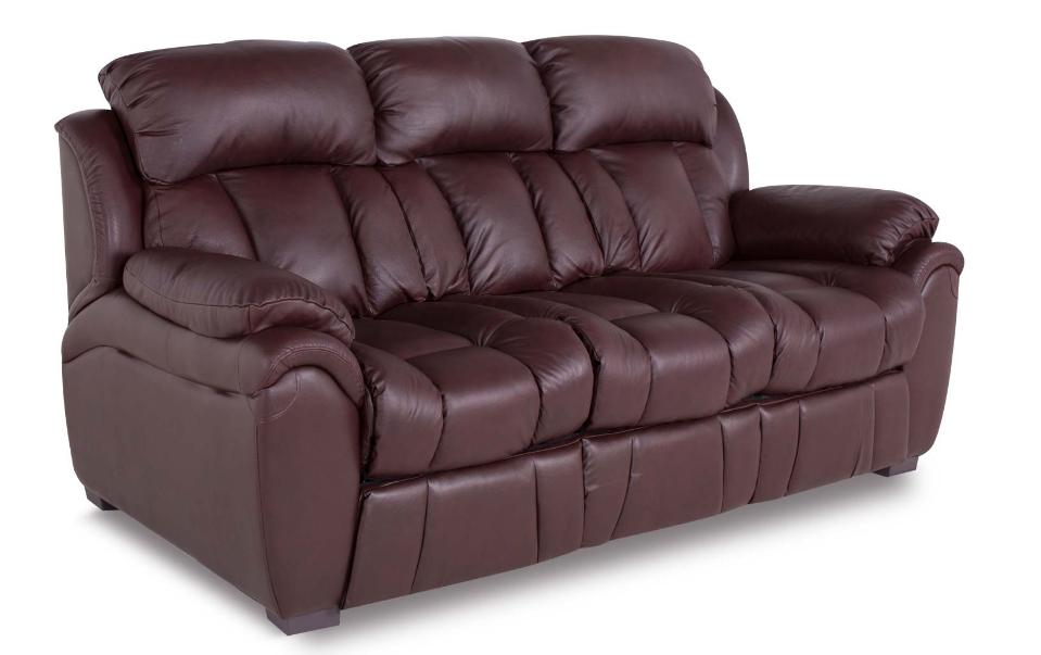 """Шкіряний розкладний диван """"BOSTON"""" (200см), коричневий (4 кольори в наявності)"""