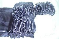 Обивка атлас 2х цветный т.синий