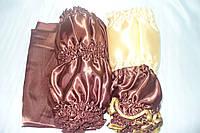 Обивка атлас 2х цветный шоколад