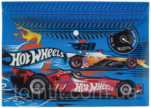 "Папка пластиковая ""Hot Wheels"", синяя (на кнопке, формат А4), фото 2"