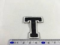 Нашивка буква T цвет черный