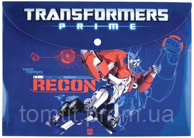 "Папка пластиковая ""Transformers"" (на кнопке, формат А4)"