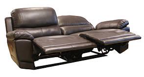 """Шкіряний диван з реклайнером """"Montana"""" (210см), фото 3"""
