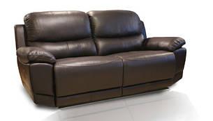 """Шкіряний диван з реклайнером """"Montana"""" (210см), фото 2"""