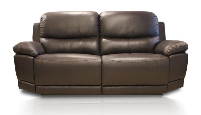 """Шкіряний диван з реклайнером """"Montana"""" (210см)"""
