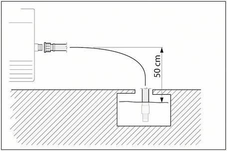 ВСАСЫВАЮЩИЙ ШЛАНГ С ОБРАТНЫМ КЛАПАНОМ для профессиональных моек Bosch (F016800335), фото 2
