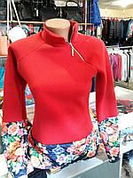 Реглан женский красный