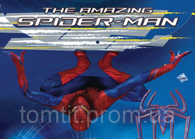 "Папка пластиковая (на кнопке, формат А4), ""Spider-Man"" (""Человек-Паук""), ТМ Kite"