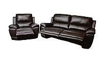 Кожаный комплект мебели с реклайнером Montana (3Р+1)