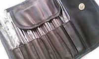 Набор профессиональных кистей для макияжа, 7 шт, черный