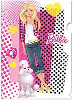 "Папка - уголок, пластиковая ""Barbie"" (формат А-4)"