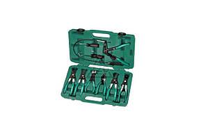 Набор щипцов для демонтажа пружинных хомутов патрубков, 7 предметов JONNESWAY (AR060024)