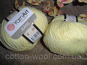 YarnArt Jeans (Ярнарт Джинс)  67 лимонный
