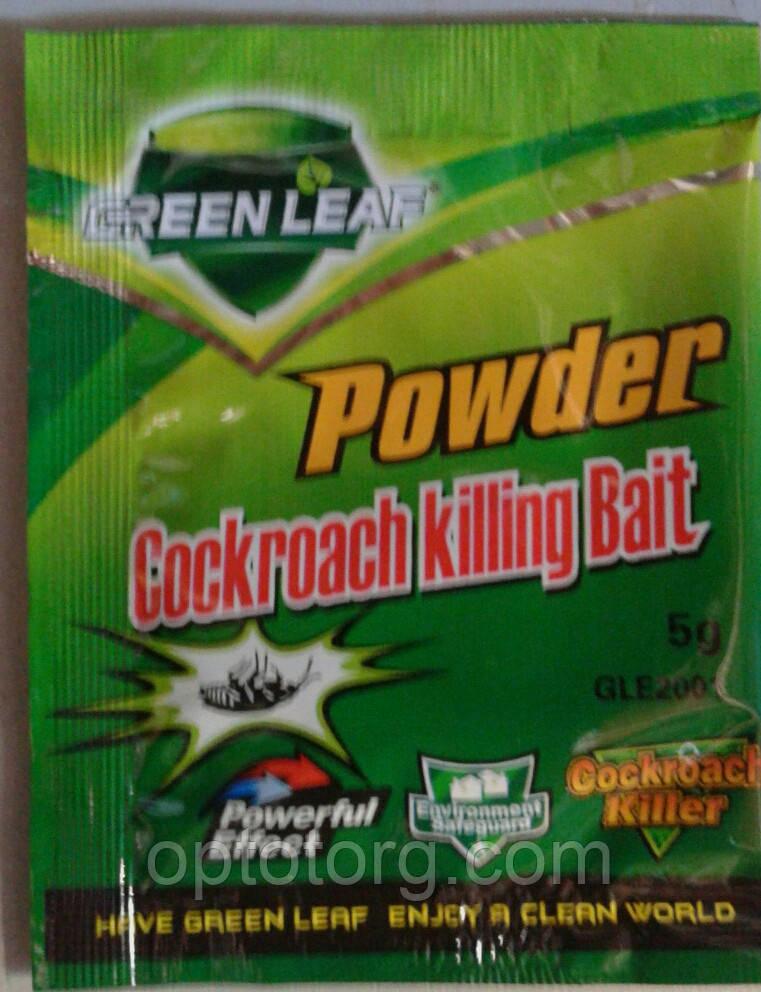 Средство от тараканов  порошок Green leaf оригинал качество 10 гр