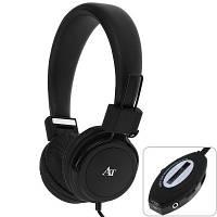Наушники AT-SD36 с FM и MP3 плеером -Черные