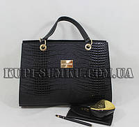 Стильная черная сумка Versace
