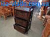 Комод плетеный из лозы  с тремя ящиками - Фото