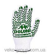 Перчатки рабочие DOLONI с ПВХ (отбеленные)