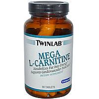 Мега L-карнитин, Twinlab, 90 таблеток