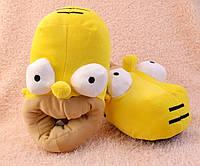 Тапочки домашние Гомер желтые , выокие