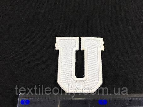 Нашивка буква U колір білий, фото 2