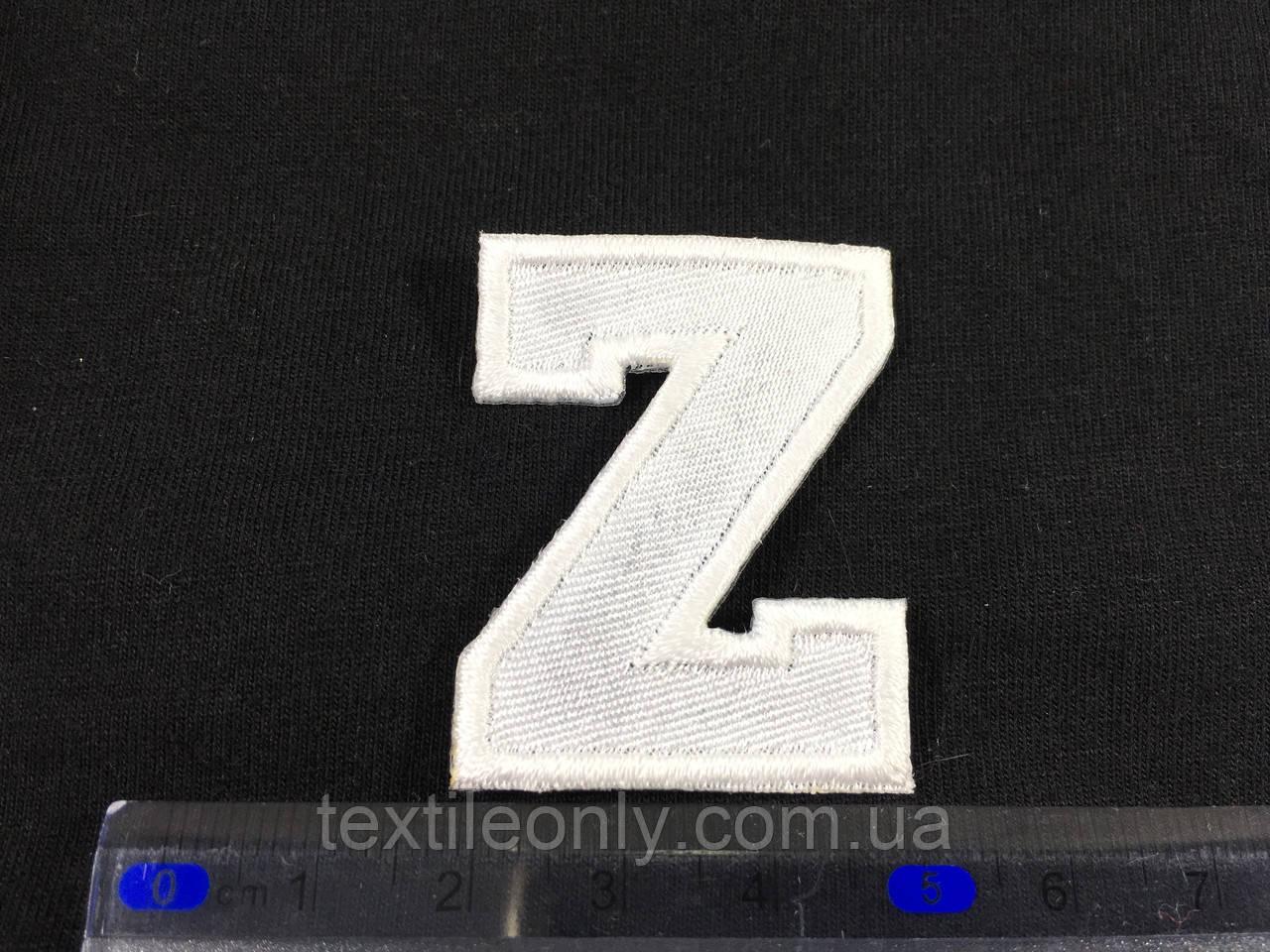 Нашивка буква Z колір білий
