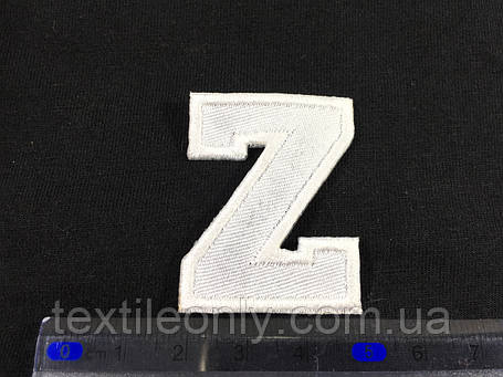 Нашивка буква Z колір білий, фото 2