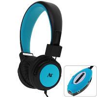 Наушники AT-SD36 с FM и MP3 плеером -Голубые