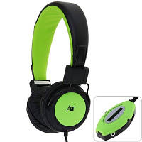 Наушники AT-SD36 с FM и MP3 плеером -Зеленые