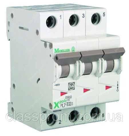 Автоматичний вимикач 3-полюс. PL7-B16/3 EATON