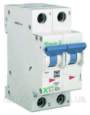 Автоматичний вимикач 2-полюс. PL7-B50/2 EATON