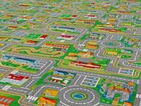 Детский ковролин Город