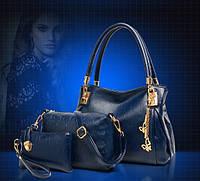 Стильная кожаная женская сумка. Модель 479, фото 4