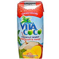 Кокосовая вода (манго, персик), 100% Coconut Water, Vita Coco, 330 мл.