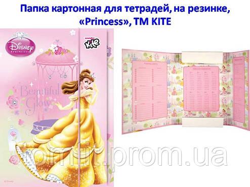 """Папка картонная для тетрадей """"Princess Disney"""", (на резинке), фото 2"""