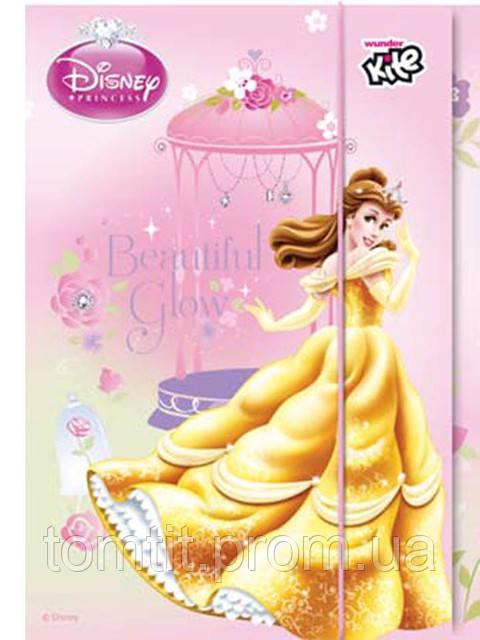 """Папка картонная для тетрадей """"Princess Disney"""", (на резинке)"""